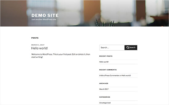 Esempio tema base di WordPress