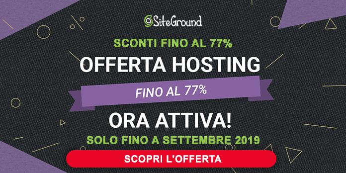 Web Hosting offerta Siteground
